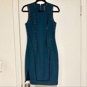 Helmut Lang x Barney's Patent Trimmed Shift Dress